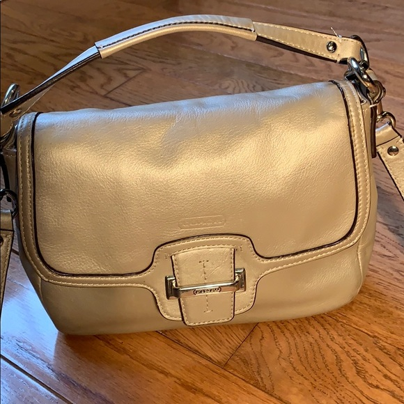 Coach Taylor Leather Flap Over Crossbody